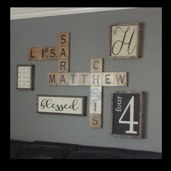 Excellent Best 20 Scrabble Wall Art Ideas On Pinterest Scrabble Wall Intended For Family Name Wall Art (Image 1 of 10)