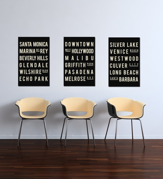 Excellent California Poster Print Los Angeles Wall Decor Los Angeles Intended For California Wall Art (View 6 of 10)