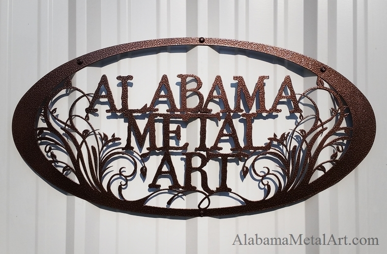 Excellent Wall Art Decor Business Alabama Custom Metal Wall Art Oval Regarding Personalized Metal Wall Art (Photo 4 of 10)