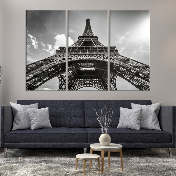 Extra Large Wall Art Paris Canvas Print – Black And White Below With Regard To Extra Large Wall Art (View 8 of 10)
