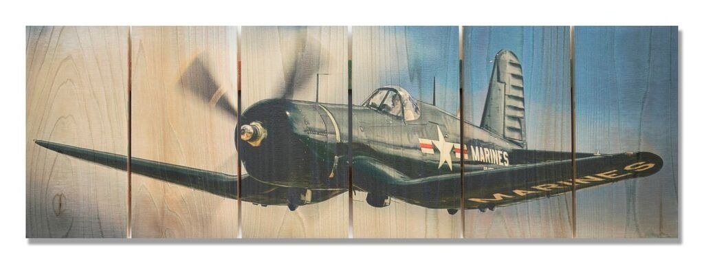 F4U Corsair Indoor Outdoor Art | Aviation Art | Airplane Wall Art With Airplane Wall Art (Image 9 of 10)