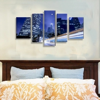 Factory Buy Direct 5 Piece Canvas Art From Reliable China,multi With Regard To Multi Piece Wall Art (Image 4 of 10)
