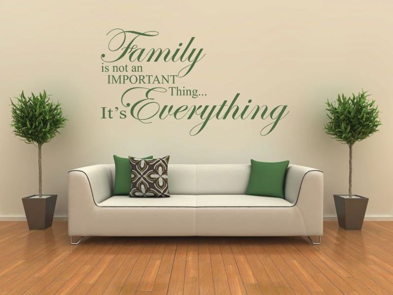 Family Is Everything – Wall Art Quote Wall Sticker Modern Vinyl Transfer Pertaining To Wall Art (Image 4 of 10)