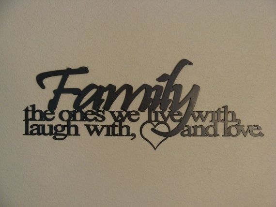 Family Metal Wall Art – Turbid Intended For Family Metal Wall Art (Image 2 of 10)