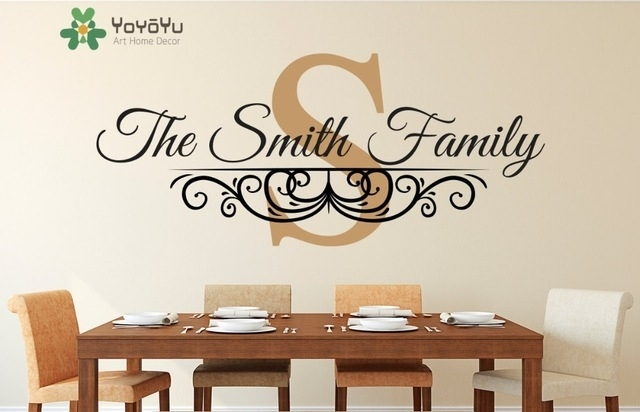 Family Name Established Date Personalized Monogram Wall Decal Living With Regard To Monogram Wall Art (Photo 8 of 10)