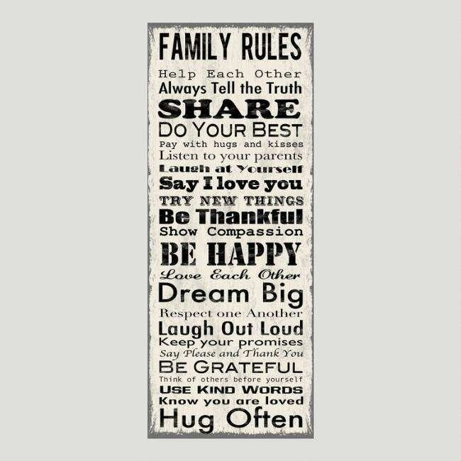Family Rules Canvas Wall Art Beautiful Family Rules Canvas Wall Art With Regard To Family Rules Wall Art (View 7 of 10)