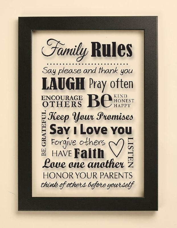Family Rules Wall Art – Fallow Intended For Family Rules Wall Art (View 10 of 10)