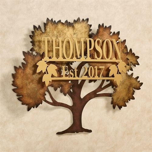 Family Tree Multi Metallic Personalized Metal Wall Artjasonw Studios Within Family Metal Wall Art (Image 4 of 10)