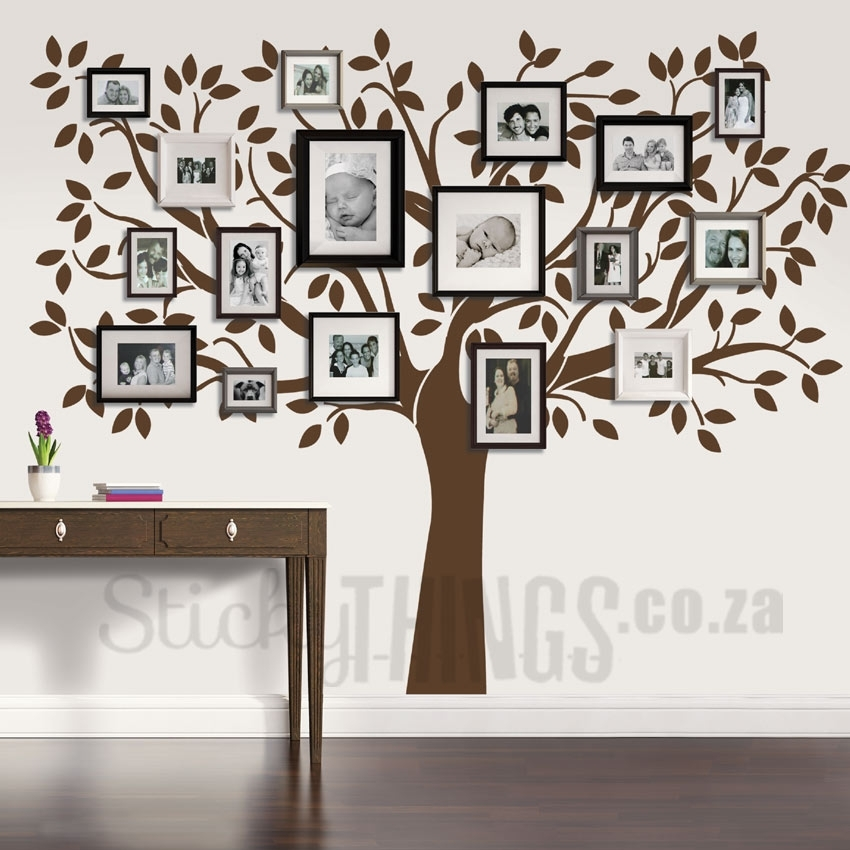 Family Tree Wall Art Decal – Stickythings.co.za With Regard To Wall Tree Art (Photo 2 of 10)