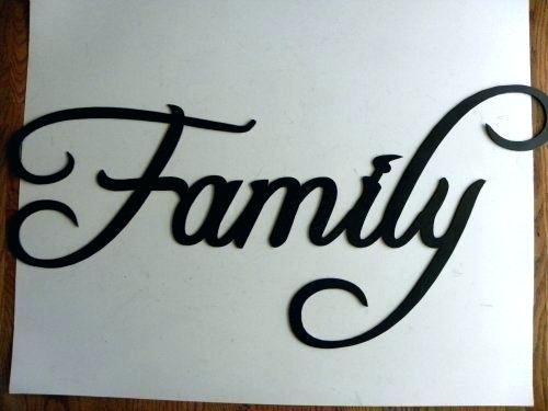 Family Wall Art Signs Word Signs For Walls Metal Wall Word Signs In Family Metal Wall Art (Image 5 of 10)