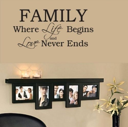 Family Wall Decals Beautiful Wall Art Sayings – Wall Decoration Ideas Intended For Wall Art Sayings (Photo 4 of 10)
