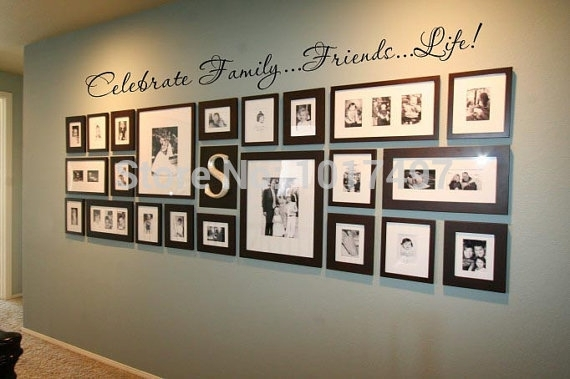 Family Wall Quote Decal For Photo Background Wall ,friends (Image 4 of 10)