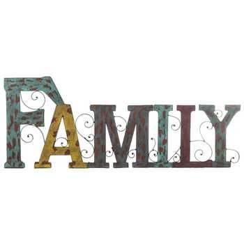 Family Word Metal Wall Decor | Hobby Lobby With Family Metal Wall Art (Image 6 of 10)