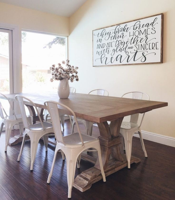 Farmhouse Table Round Up | The Cooking Room | Pinterest | Farmhouse Within Dining Room Wall Art (Image 7 of 10)