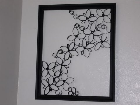 Faux Wrought Iron Wall Art For Under $5 – Youtube In Wrought Iron Wall Art (Image 5 of 10)