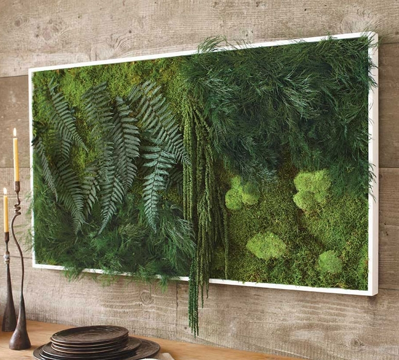 Fern And Moss Wall Art – The Green Head Inside Moss Wall Art (Image 5 of 10)