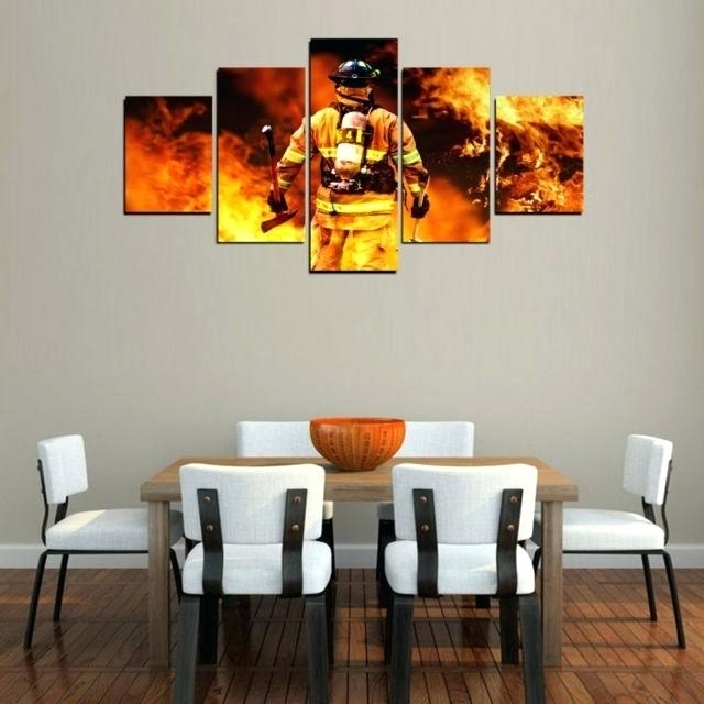 Firefighter Wall Art Printed With Top Quality Canvas This Is A With Regard To Firefighter Wall Art (Image 7 of 10)