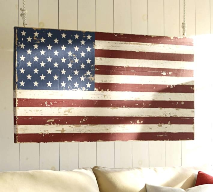 Flag Wall Art Extra Large American Flag Metal Wall Art – 7Thhouse Inside American Flag Wall Art (Image 7 of 10)