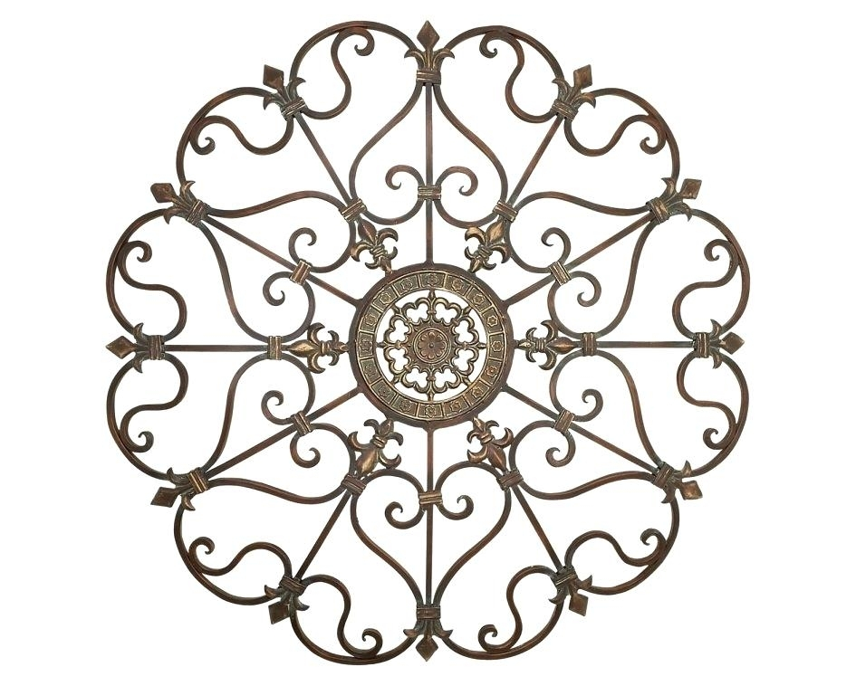 Fleur De Lis Metal Wall Art Art Metal Scroll Wall Art Medallion D Regarding Metal Scroll Wall Art (Image 3 of 10)