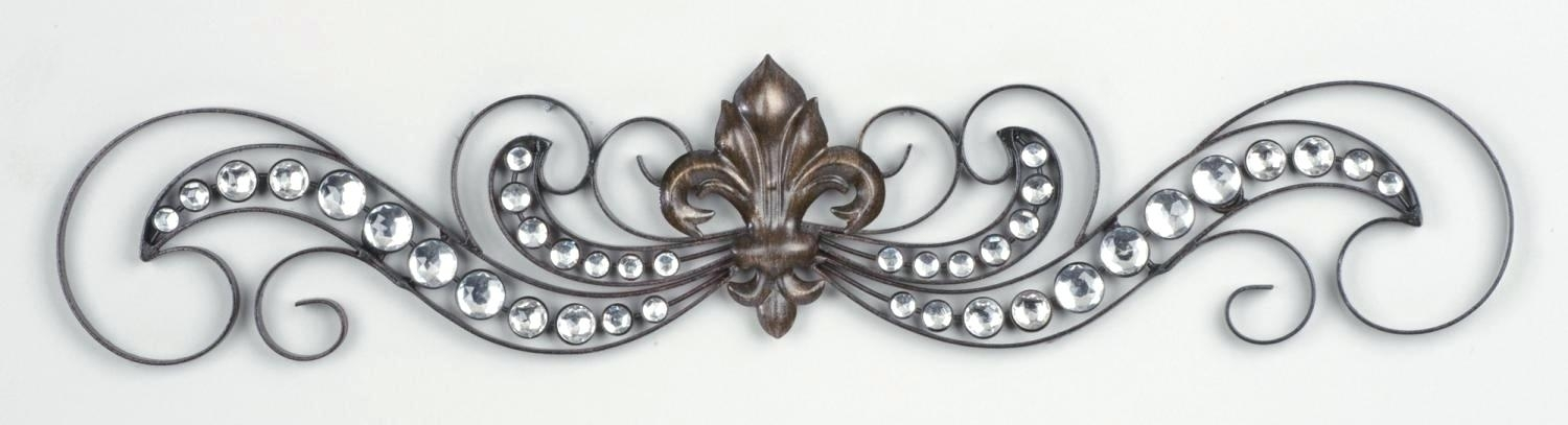 Fleur De Lis Mirror Wall Hanging Wall Art For Property With Metal Inside Fleur De Lis Wall Art (Photo 6 of 10)