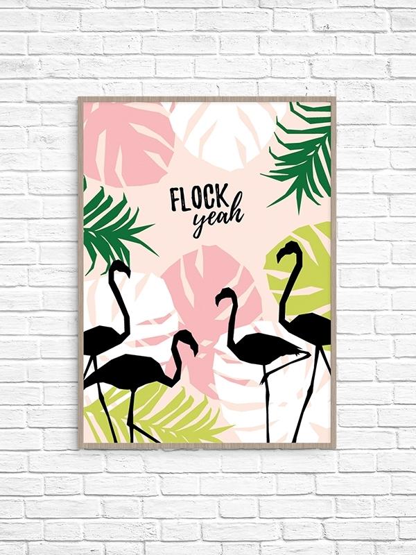 Flock Yeah Printable Wall Art – Make And Tell Regarding Printable Wall Art (Image 5 of 10)