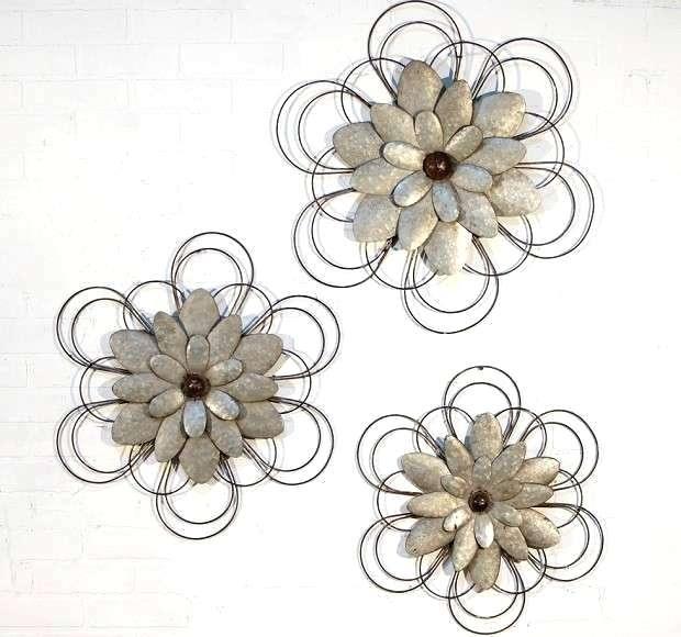Floral Metal Wall Art Image Of Lotus Flower Metal Wall Art Metal In Metal Flower Wall Art (Image 1 of 10)
