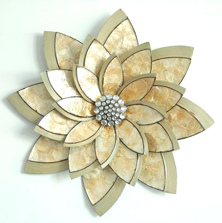 Floral Metal Wall Decor Yellow Flower Metal Wall Decor Wall Art Pertaining To Metal Flower Wall Art (Image 2 of 10)