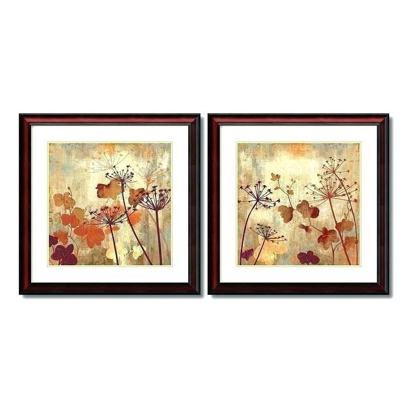 Floral Wall Art Sets Framed Wall Art Sets Wild Field Floral 2 Piece Throughout Set Of 2 Framed Wall Art (Photo 3 of 10)