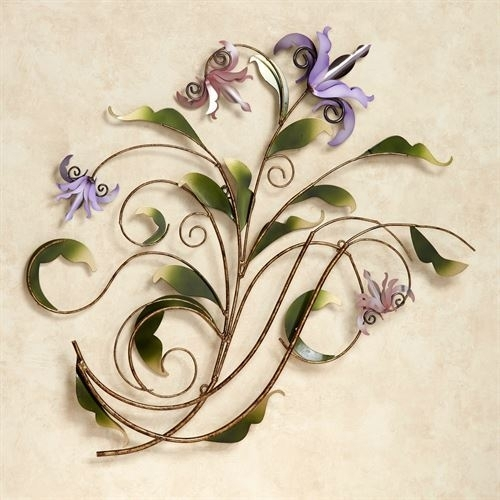 Floria Pastel Metal Flower Wall Sculpture | Touch Of Class Art In Touch Of Class Wall Art (Photo 6 of 10)