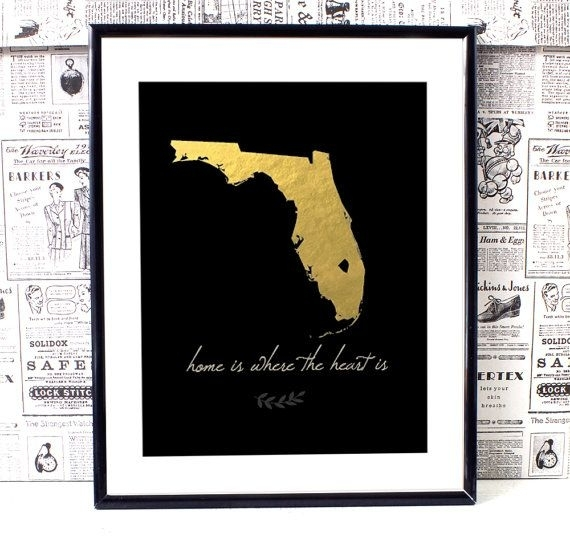 Florida Map Art, Florida Wall Art, Printable Wall Art, Printable Intended For Florida Wall Art (View 3 of 10)