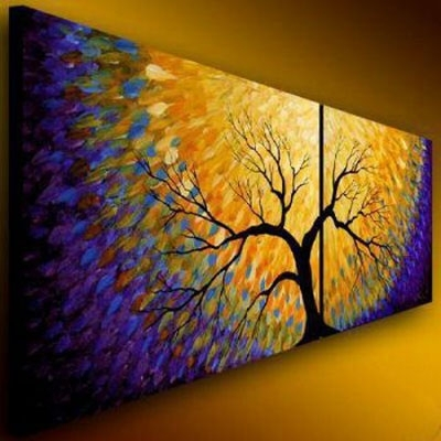 Flowering Modern Canvas Abstract Oil Painting Wall Art With In Modern Abstract Painting Wall Art (Photo 9 of 10)