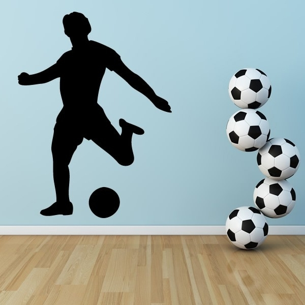 Football Striker Wall Stickers Sports Wall Art Intended For Sports Wall Art (Image 5 of 10)