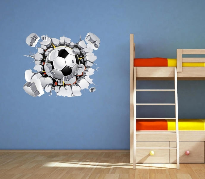 Football Wall Decal Soccer Wall Art Sticker Muralmysticky On With Regard To Soccer Wall Art (Image 3 of 10)