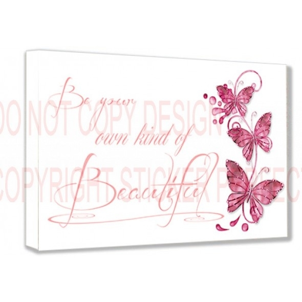 Framed Canvas Print #2 Be Your Own Kind Of Beautiful Inspirational With Regard To Be Your Own Kind Of Beautiful Wall Art (Photo 7 of 10)