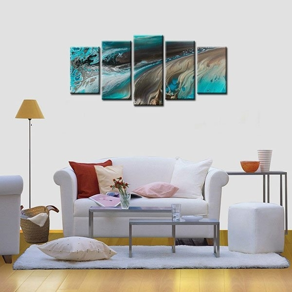 Framed Canvas Print Art Abstract Oil Painting Wall Canvas Art Home Pertaining To Wall Canvas Art (Image 8 of 10)
