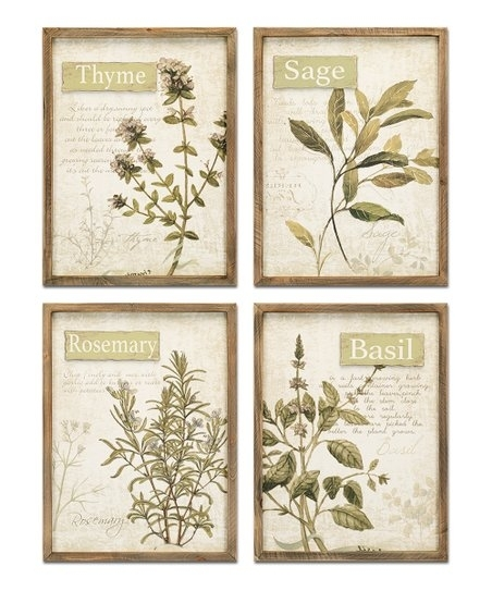 Framed Herb Wall Art – Set Of Four | Zulily Within Herb Wall Art (Image 2 of 10)
