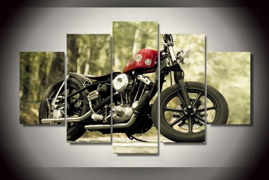 Framed Motorcycle Wall Art : Andrews Living Arts – Perfect Ideas For Motorcycle Wall Art (Photo 10 of 10)