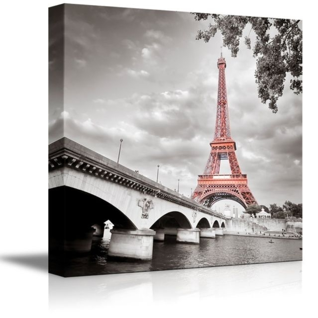 Framed Paris Eiffel Tower Canvas Print Modern Picture Wall Art With Paris Wall Art (Photo 1 of 10)