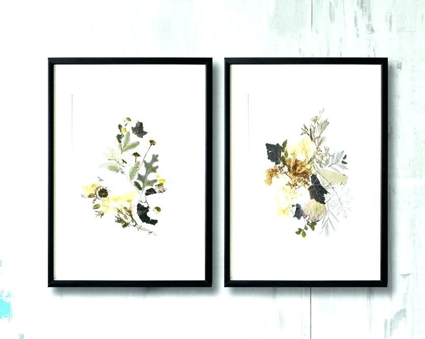 Framed Wall Art Sets Floral Wall Art Sets Floral Framed Wall Art Set Regarding Set Of 2 Framed Wall Art (Photo 8 of 10)