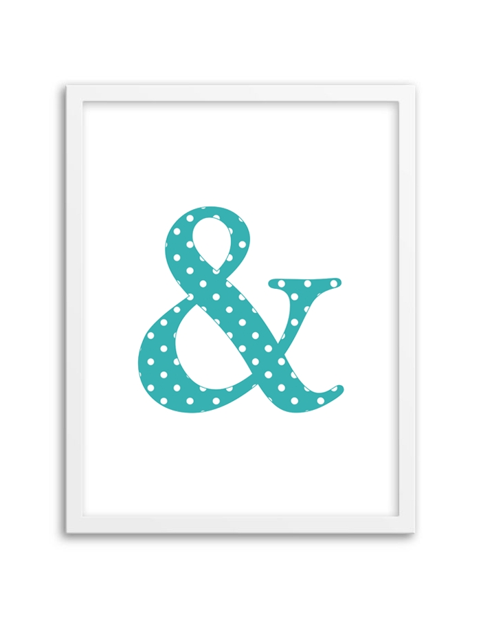 Free Printable Polka Dot Ampersand Wall Art With Regard To Free Printable Wall Art (Image 7 of 10)