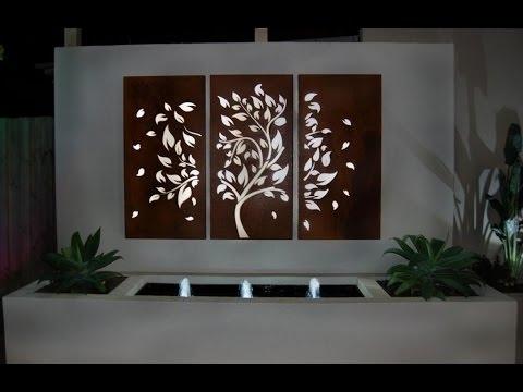 Garden Wall Art # Fleur De Lis Outdoor Wall Decor – Youtube For Outdoor Wall Art (View 5 of 10)