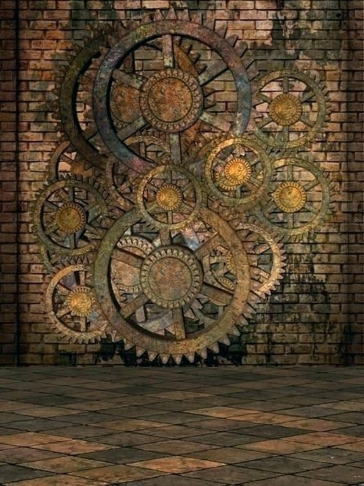 Gear Wall Art Gear Wall Art Set Of Three Steampunk Gear Wall Art Regarding Steampunk Wall Art (Photo 5 of 10)