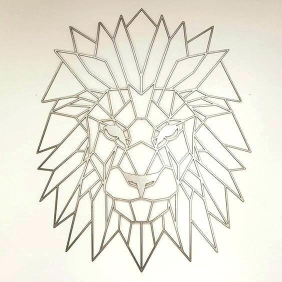 Geometric Wall Art Geometric Wall Art Ideas Lion Metal And Lions Throughout Geometric Metal Wall Art (View 6 of 10)
