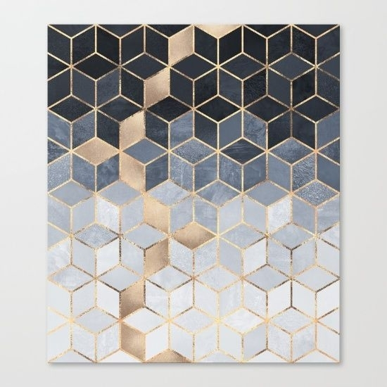 Geometric Wall Art Removable Sticker Fabric Self Adhesive Complete Within Geometric Wall Art (Image 5 of 10)