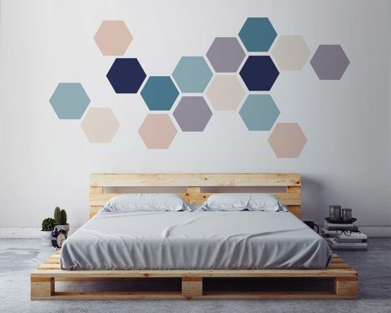 Geometric Wall Art, Removable Wall Sticker (Image 6 of 10)