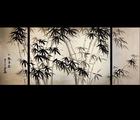 Giclee Artwork Canvas Art Fine Art Prints Wall Art Japanese Bamboo With Regard To Japanese Wall Art (Image 5 of 10)