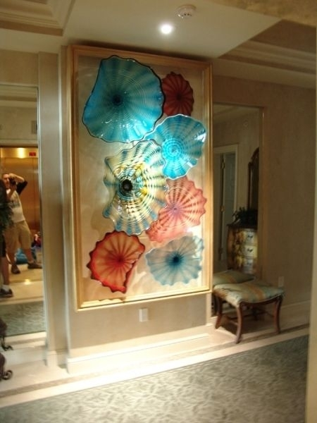 Glass Beverly Albrets Blown Glass Wall Art~ Tropicalglassdesigns Inside Glass Wall Art (Image 6 of 10)