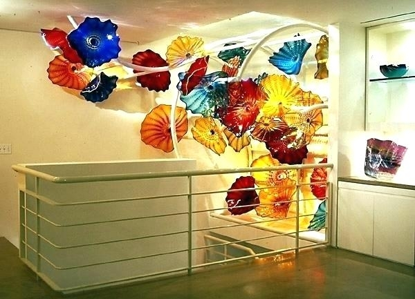 Glass Wall Artwork Glass Wall Art And Decor Blown Glass Wall Art Regarding Blown Glass Wall Art (View 9 of 10)
