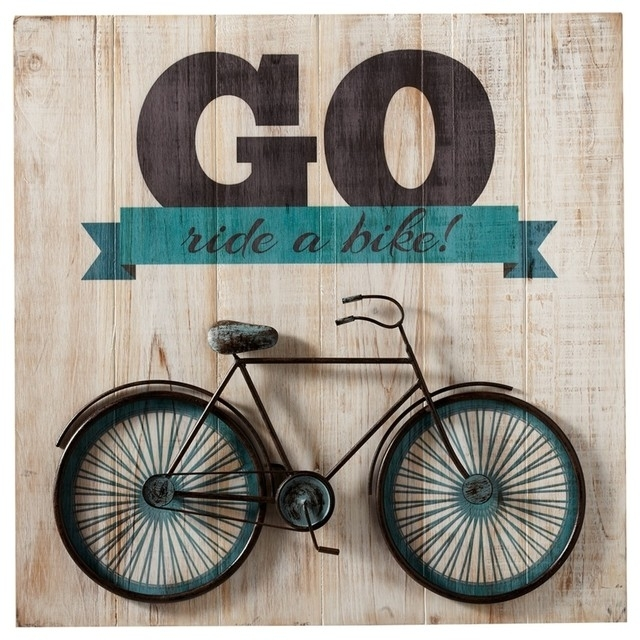 """Go Ride A Bike"""" Bicycle Wall Art – Contemporary – Kids Toys And Inside Bicycle Wall Art (Photo 1 of 10)"""