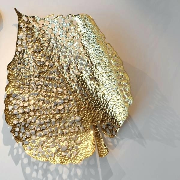 Gold Metal Wall Art – Becomingbottos Throughout Gold Wall Art (Image 3 of 10)